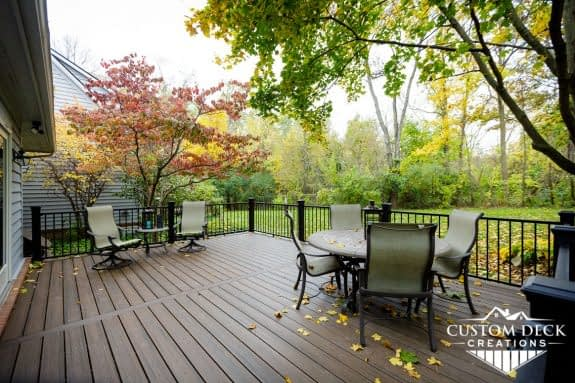 Custom Deck Creations composite Trex deck in Canton Michigan
