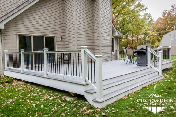 Trex Island Mist Deck Built With Wide Stairs