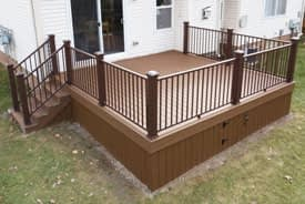 Trex Saddle composite deck with Saddle skirting and access door - Taylor, Michigan