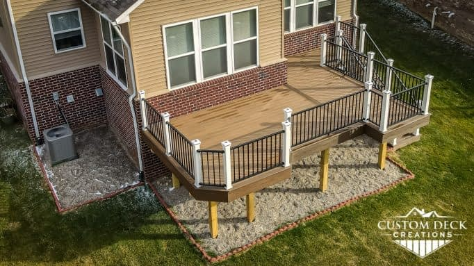 Trex 2nd Story Deck in Toasted Sand