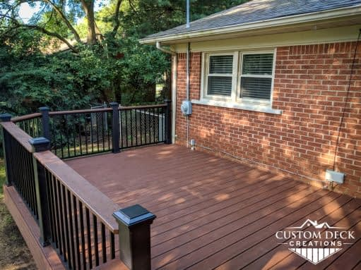 Backyard composite deck and railing