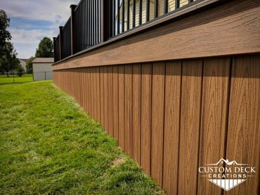 Trex skirting boards on a deck