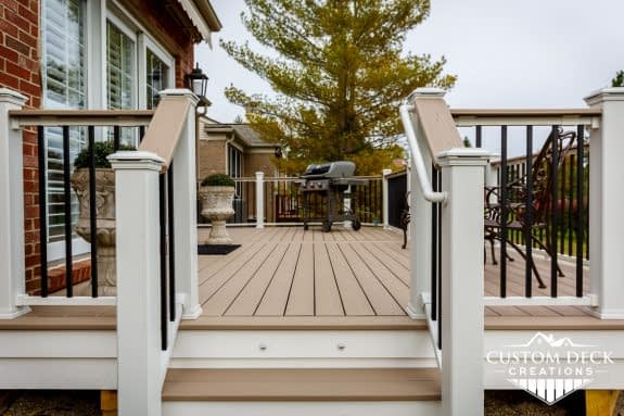 Trex Deck with Custom Railing