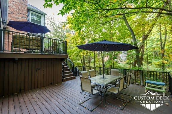 Custom backyard deck built in Northville, MI