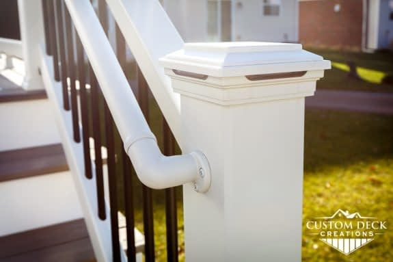 Trex Transcend Composite Railing Post Cap Lighting