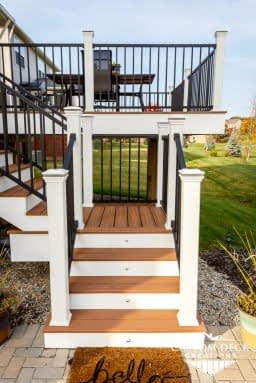 Deck Stairs built with Trex