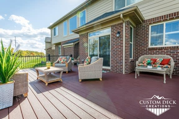 Trex Deck in Backyard, Canton, MI