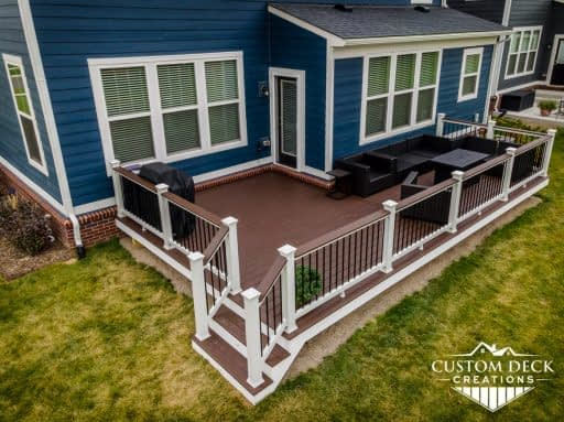 Trex Deck for New Construction Home, Michigan