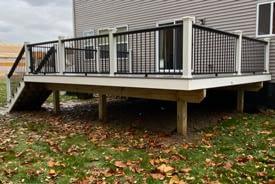 New Boston New Home Trex Deck