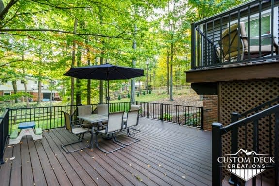 Trex 2nd Story Deck in Northville, Michigan
