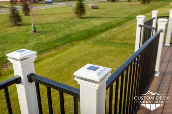 Solar Powered Deck Railing Post Cap Light