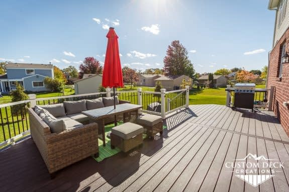 Trex Deck on New Construction Home in Canton, Michigan